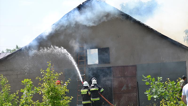 Pożar budynku gospodarczego w Mszance
