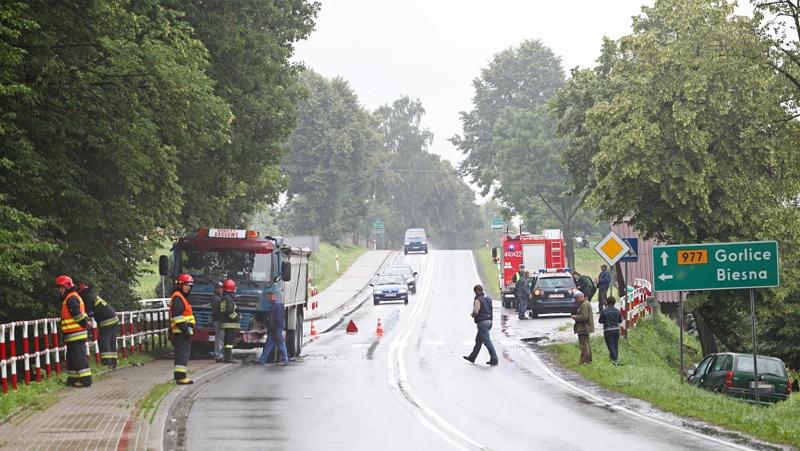 Groźnie wyglądający wypadek w Biesnej