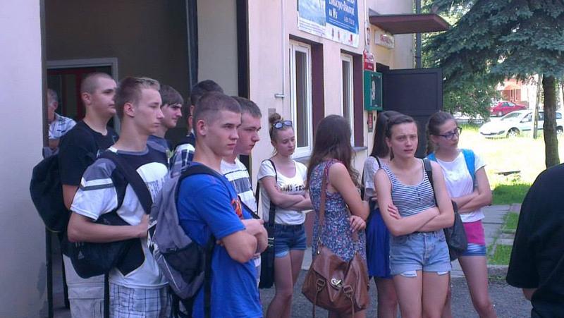 Spotkanie gimnazjalistów z OSP Łużna