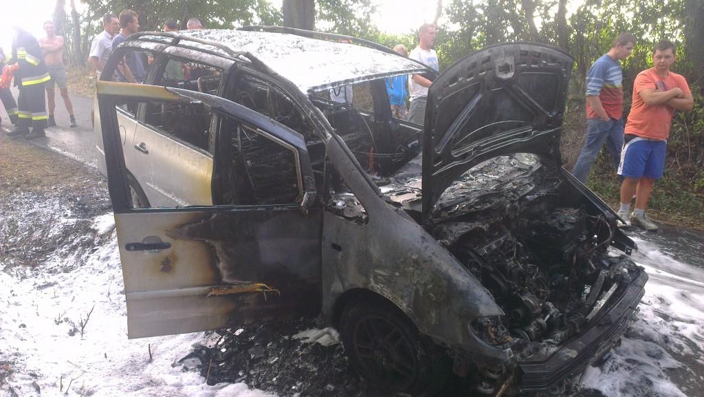 Pożar Samochodu osobowego Volkswagen Sharan