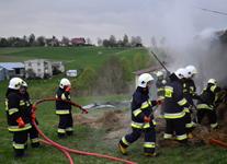 Pożar domu mieszkalnego w Łużnej
