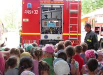 Wizyta przedszkolaków z okazji Dnia Strażaka