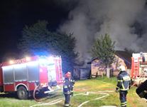 Pożar budynku gospodarczego w Biesnej