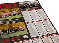 Wsparcie dla OSP Łużna w zakupie kalendarzy strażackich na rok 2015